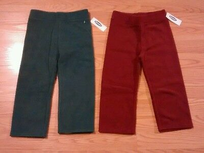 Old Navy Toddler Fleece Pants 2T Sweatpant Solid Lot of 2 Boys Girls Warm NEW