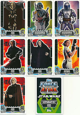 Force Attax Star Wars Movie Card Serie 2 - Force Meister Nr.234-240 - auswählen
