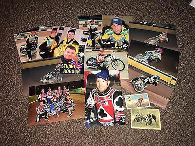 Lot Of Speedway 12 Photos, 2 Cigarette Cards And 1 Sticker, Cov Bees,Belle vue