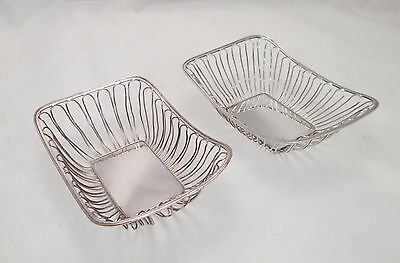 A Fine Pair of Old Sheffield Plate Sweetmeat Baskets - c1790