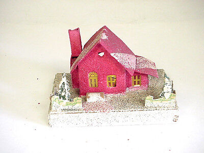 Vintage The Dolly Toy Co.  Cardboard Christmas house, red in color