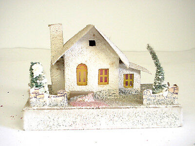 Vintage The Dolly Toy Co.  Cardboard Christmas House, Cream in color