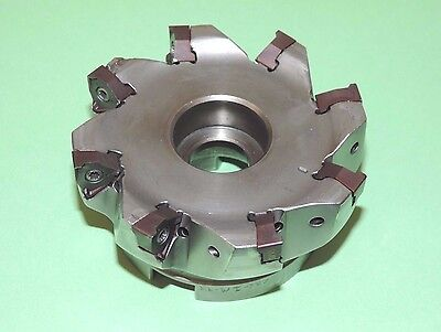 "SECO 4"" SQUARE 6 Indexable Face Mill w/ XNEX Inserts (R220.96-04.00-08-8A)"