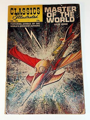 Vintage CLASSICS ILLUSTRATED Master Of The World No. 163 1961 Silver Age Comic