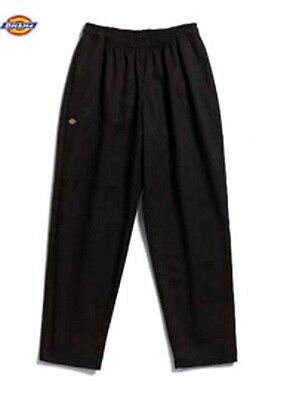 Dickies Chef Pants Black Drawstring Waist Baggie Cargo Pocket XS 050301 New