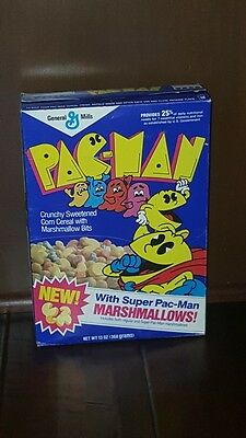 Authentic Vintage 1988 General Mills PAC-MAN Cereal Box  Box ONLY Empty