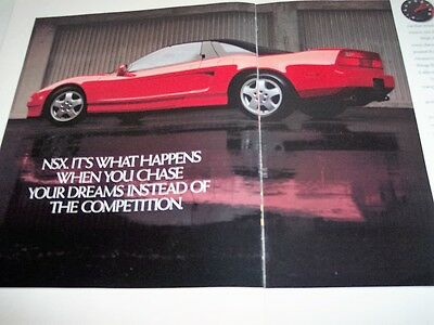 1990 ACURA NSX  Photo Print Magazine Brochure