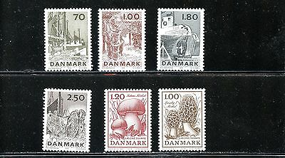 Lot 63327 Mint Nh 620 - 625  Denmark Stamps From The Year 1978