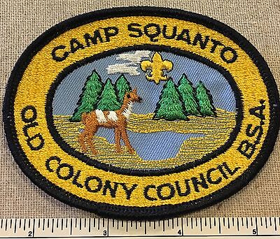 1970s Camp Squanto Old Colony Council PATCH Boy Scout BSA Scouts Camp MA Oval