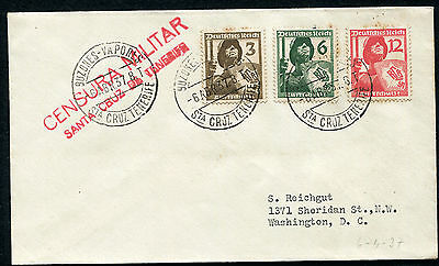 SPAIN: (11509) Germany/censor/paquebot cancel/cover
