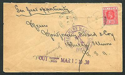 ST. LUCIA: (12121) VIEUX-FORT cancel/cover
