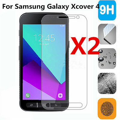 2x 9H Premium Tempered Glass Screen Protector For Samsung Galaxy Xcover 4 New