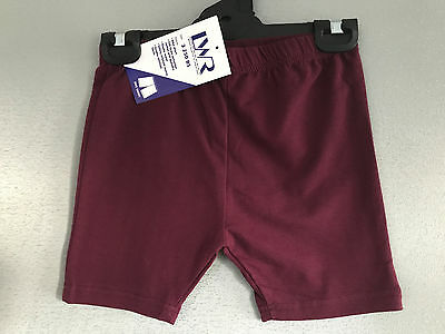 BNWT Girls Sz 8 LW Reid Maroon Elastic Waist School/Sport Athletic Bike Shorts