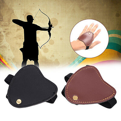 Archery Hunting Finger Protect Glove Guard Bow Tabs Guard Hand Archery Bow