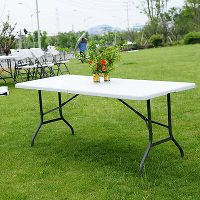 Folding 6' Table Portable Plastic Outdoor Home Picnic Party Dining Tables New