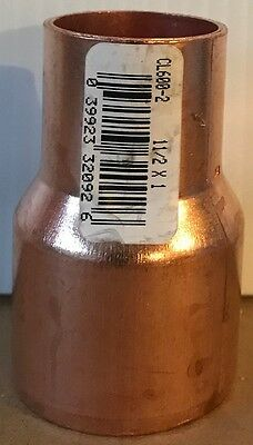 """NIBCO 1 1/2 inch x 1 inch Copper Reducer Fitting - 1 1/2"""" x 1"""" - NEW"""
