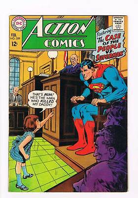 Action Comics # 359 Case of the People vs Superman ! grade 7.5 scarce book !!