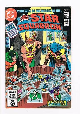 All-Star Squadron # 1  Famous First Issue !  grade 3.5 scarce book !