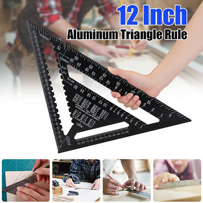 12 Inch Aluminum Alloy Speed Square Rafter Triangle Angle Square Measuring Gui