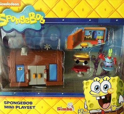 Spongebob Squarepants Mini Figure Playset - Krusty Krab House Burger Shop