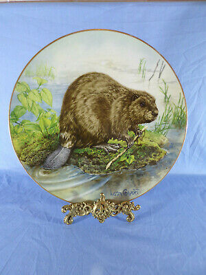 Limited Edition Goebel Large Wall Plaque The Beaver By Lisa Calvert 1980