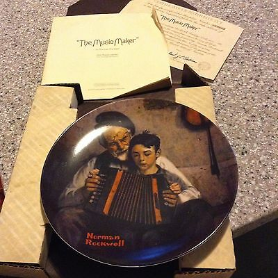 The Music Maker Norman Rockwell Collectors Plate