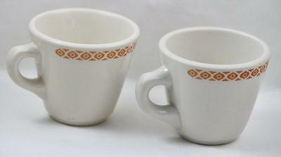Restaurant Ware Coffee Cup Shenango China Orange Design Band Set of 2