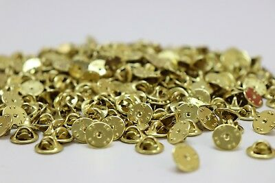 Brass Clutch Back Pin Back Pinback Clasps for Pins and Military Insignia 250 pcs