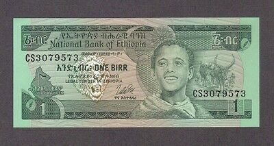 1976 1 One Birr Ethiopia Currency Gem Unc Banknote Note Money Bank Bill Cash Cu