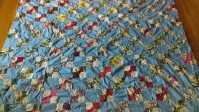 Vintage Linens - Antique Quilt Top - bow tie pattern - in process - you finish