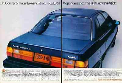 1984 Audi 5000S Turbo 2-page Original Advertisement Print Art Car Ad J712