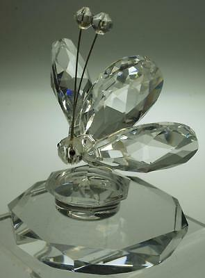 Crystal Butterfly Perfume Bottle Stopper and Display Base