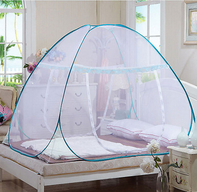 Pop Up Camping Tent Bed Canopy Mosquito Net Full Queen King Size Netting Bedding