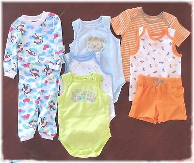 Lot Of 8 Pc Baby Boy Clothes Size 3m To 12m Small Wonders Little Linsey New
