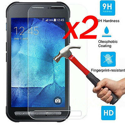 2Pcs Premium Tempered Glass Screen Protector For Samsung Galaxy Xcover 4 G390F