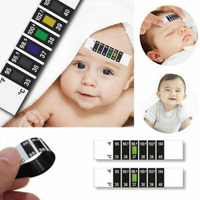 Newborn Baby Forehead Strip Head Thermometer Fever Body Test Temperature Check