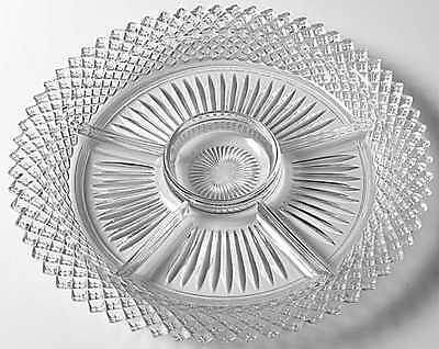 Anchor Hocking MISS AMERICA CLEAR 5 Part Relish Dish 6111