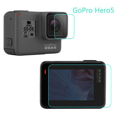 For Gopro Hero 5 Black Camera Accessories Lens+ Screen Protector Protective Film