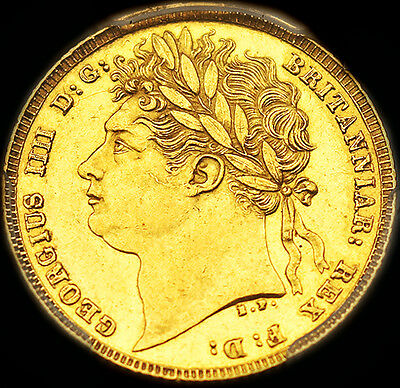 KING GEORGE THE IIII 1821 GOLD SOVEREIGN PCGS AU58 Almost State
