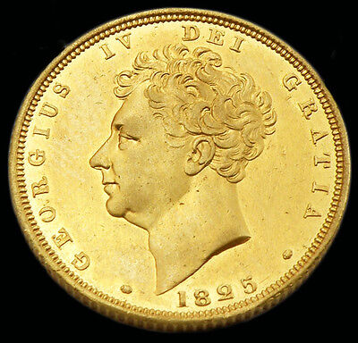 KING GEORGE THE IV 1825 GOLD SOVEREIGN About UNC