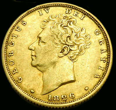 King George The Iv 1826 Gold Sovereign