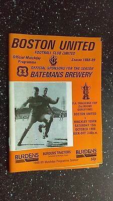 Boston United V Hinckley Town 1988-89