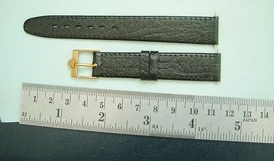 Omega Buckle on leather Apollo strap or band 16mm omega gold plated Buckle band