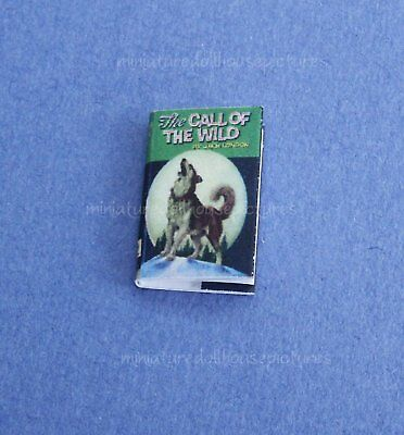 Miniature Dollhouse Book Call of The Wild 1:12 Scale New