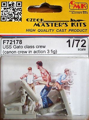 CMK F72178 WWII USS Gato Class Cannon Crew in Action Resin Figuren in 1:72