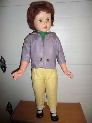 "Horsman ~ 1959 ""Princess Peggy"" Playpal Vinyl HP Walker Doll 35"""