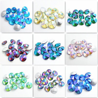 Wholesale AB 15Ppcs XILION ELEMENTS Crystal glass Rivoli loose Beads DIY14mm