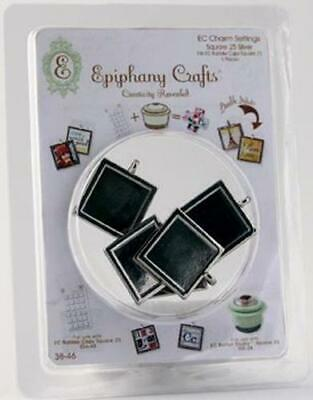 Epiphany Metal Charms Square 25  Silver 38-46;  5 St.