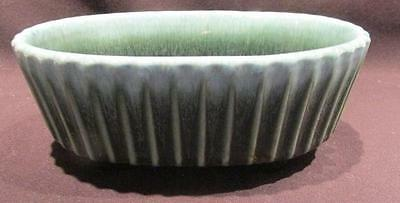 Hull Pottery Vintage Green Drip Glaze Footed Oval Planter F39