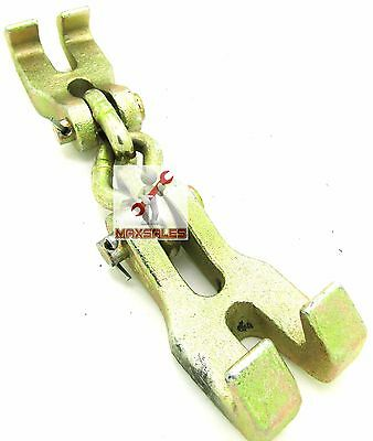Double Claw Hook Chain Shortener Clamp Bumper Hook Pull Auto Body Repair Clamp